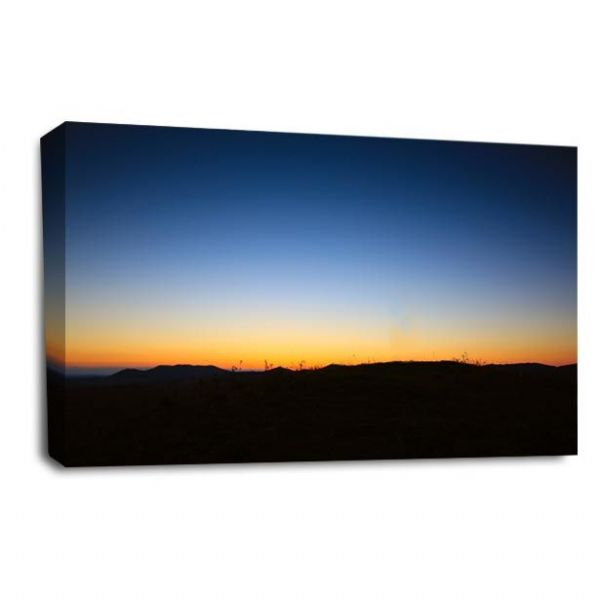 Sunset Landscape Wall Art Picture Orange Golden Last Light Print